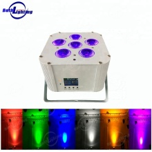 Stage Light Effect battery powered up lighting 6x18W event rgbwauv cube sound bar mini wireless led par can