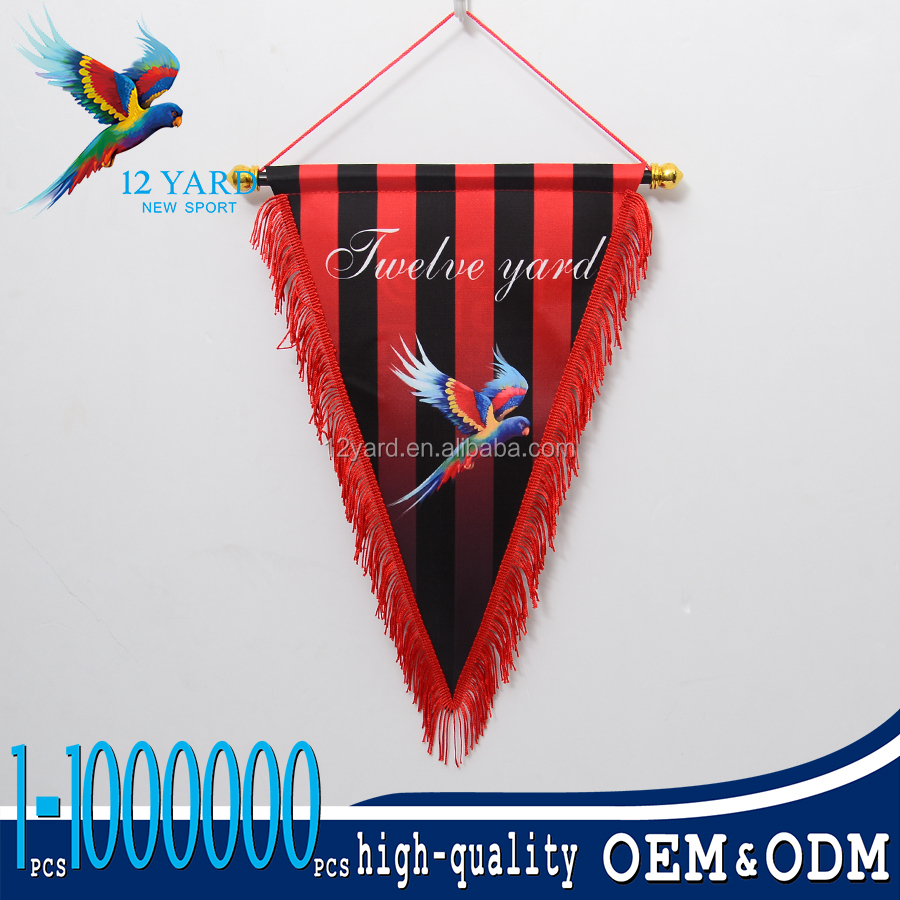 Best quality event promotion display custom logo advertise pennant flag