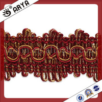 Home textile decorative braid gpo lace,yarn dyeing