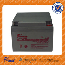 wholesale price AGM lead acid recharge UPS battery small 12 volt 12v 26ah 2kva battery backup online ups