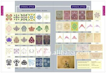 single piece decorative paint stencil
