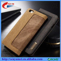 2016 magnetic case retro leather luxury wallet for iphone 6 6s plus