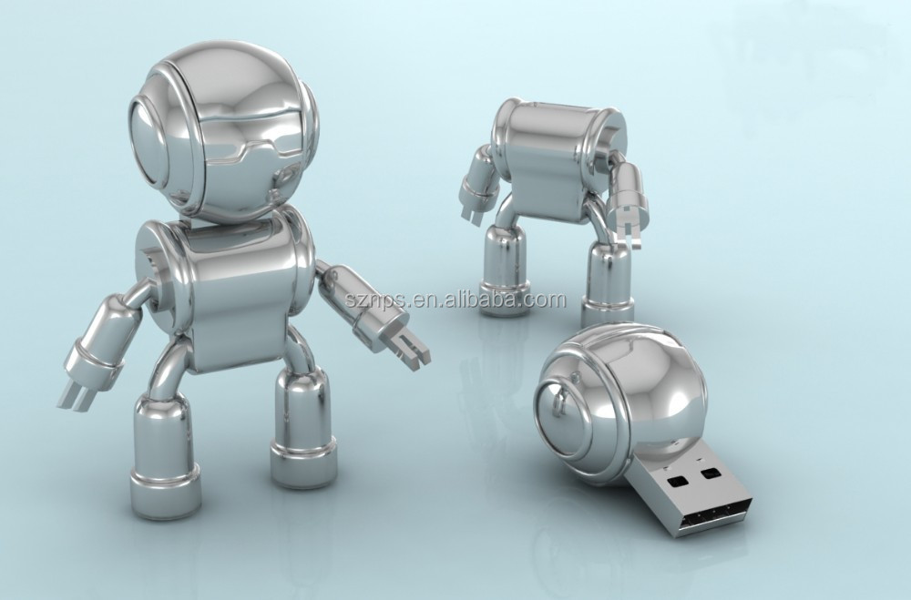 Top sell novely copy data free accept paypal escrow wholesale metal usb flash drive robot