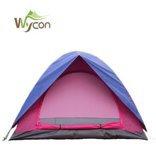 High quality folding outdoor pink camping tent 2 person use