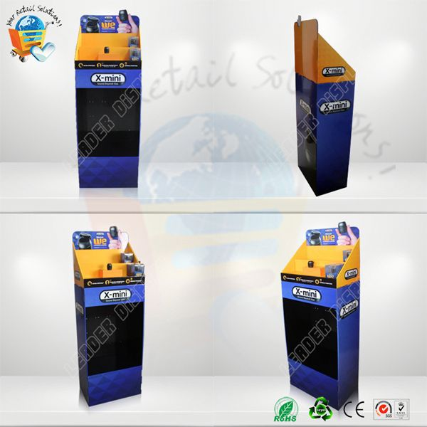OEM t-shirt multilayer pos free standing cardboard floor display trade show display equipment