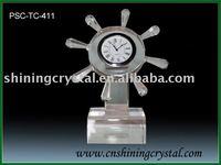 2012 new design crystal clock