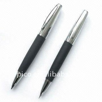 Metal Pen Set,Ballpoint Pen And Mechanical Pencil Set For Business Gift