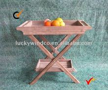 antique folding wooden tray table