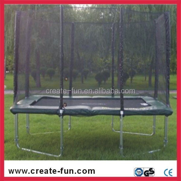 CreateFun Kids Equipment 8x12 feet(2.44mx3.66m) rectangle trampoline with safety net enclosure