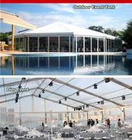 16m Octagonal Tent & Glass Wall and PVC Fabric Cover Wall System & Glass Door