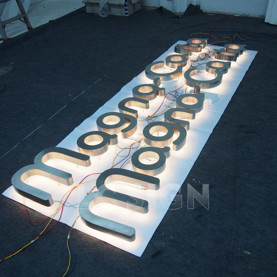 New arrivel led alphabet letter sign material backlit logo sign