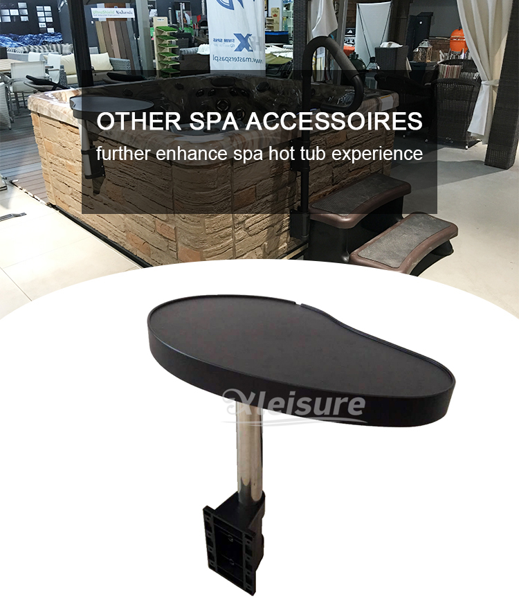 Universal Spa Tray Table Weatherproof Black Hot Tub Beverage Holder