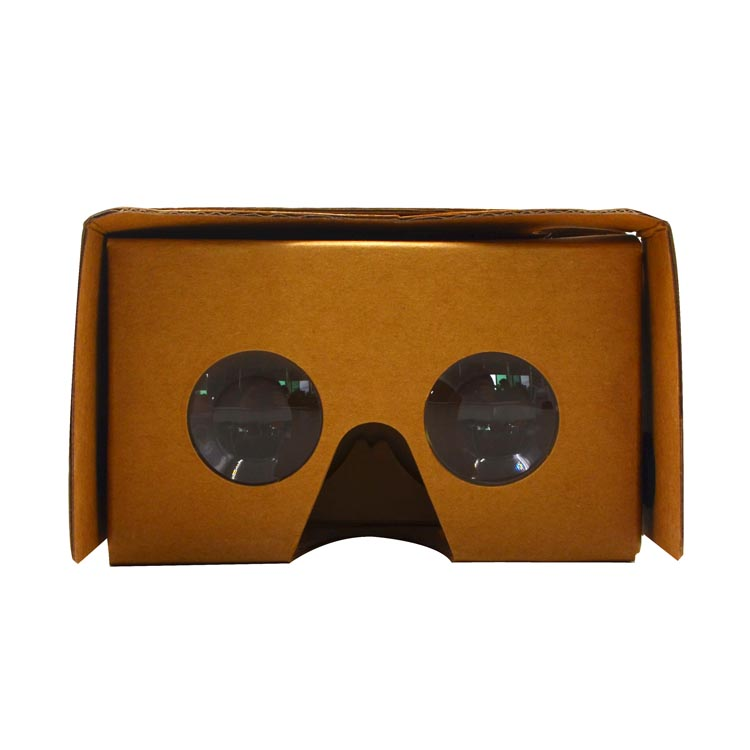 High quality cheap 3D Virtual Reality glasses Google Cardboard paper v2 VR viewer