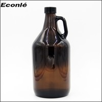 Amber color 2 liter glass bottle/glower bottle