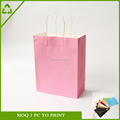 Customised Color Fancy Gift Packaging Wine Paper Bags with Handle,Kfraft Paper Bag China