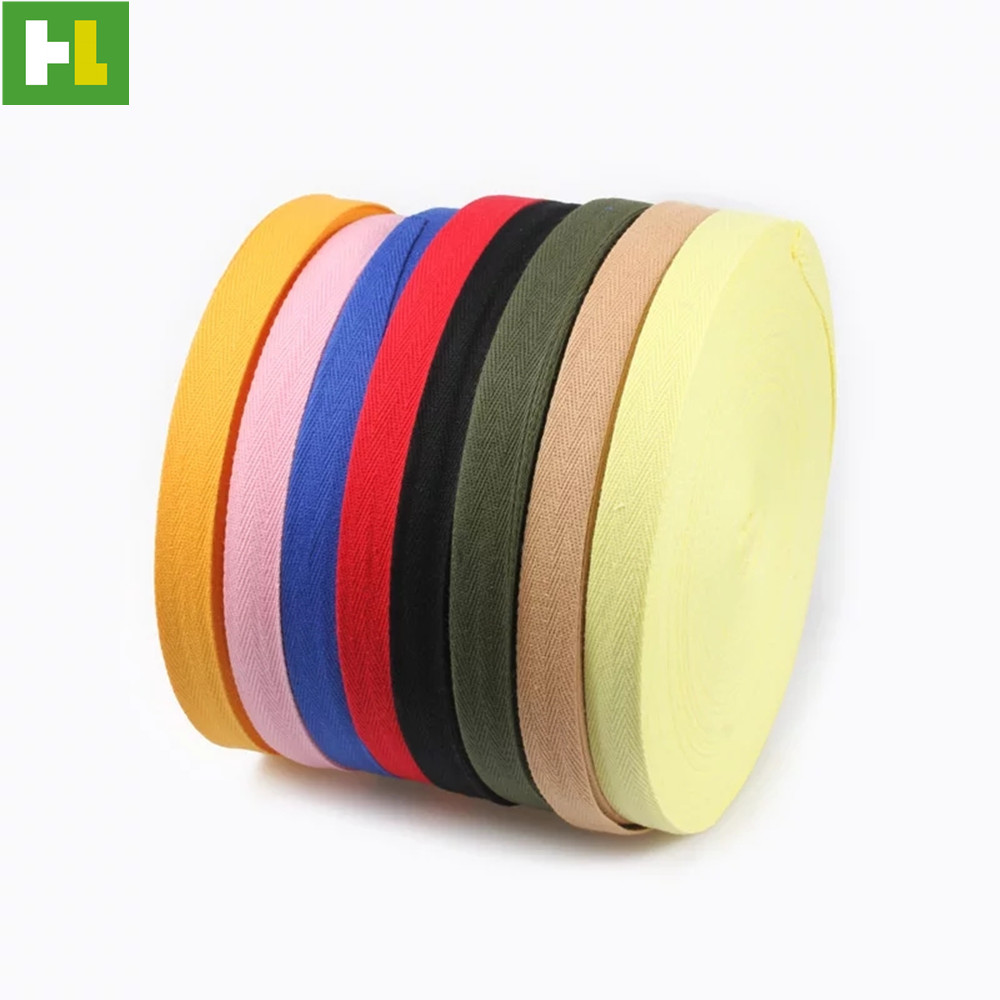High quality mixed color tape cotton polyester webbing thick