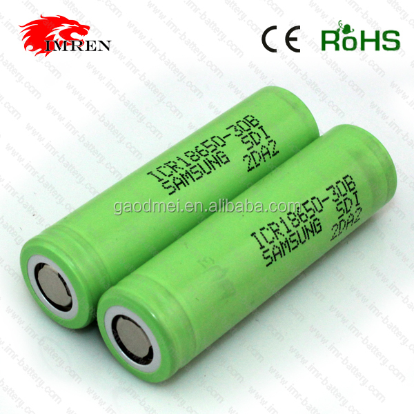 High Drain Lithium li-ion ICR 18650 30B 3.7V SAMSUNG 3000mAh Rechargeable Battery Cells