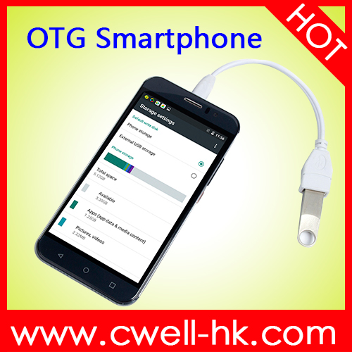 Android Phone with USB OTG, Smartphone OTG G8 Quad Core 5.0 Inch 512 RAM 4GB ROMPower Bank Function