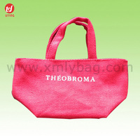 2015 New Red Handle Cotton Tote Carry Bags