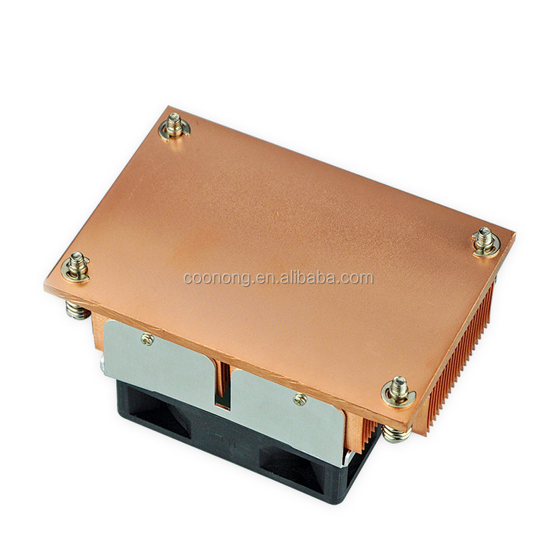 Wholesale Skived copper CPU round 50mm LGA 2011 1.5U Low heat sink