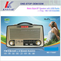 Rechargeable Boombox Bluetooth Player with AM FM Radio