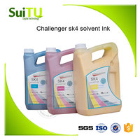 challenger sk4 solvent ink in printing inks for inkjet solvent printer with spt 510 1020 35pl print head