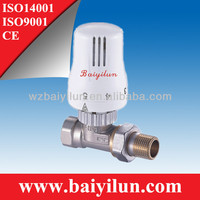 body chrome, white head,compression ends radiator thermostatic valve