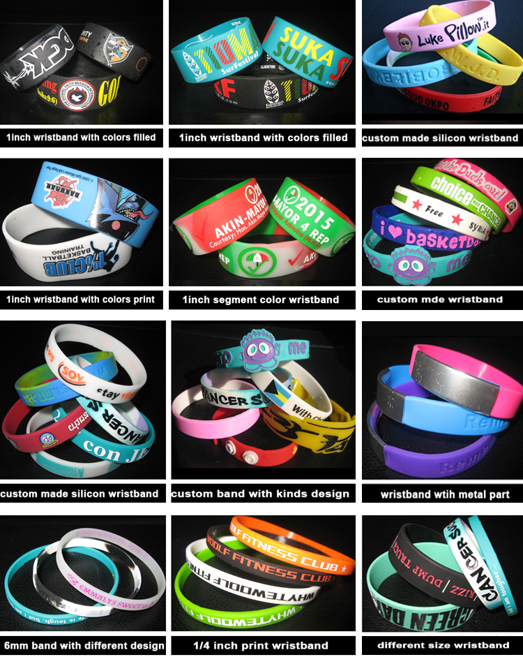 2018 hot selling glowing silicone wristband
