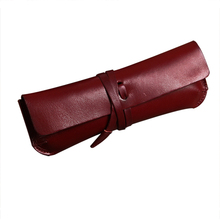 handmade leather drawing pencil case