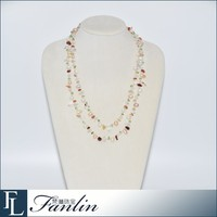 bright-coloured long necklace freshwater pearl jewelry