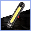 COB Waterproof Comet USB Rechargeable Bicycle Head Light Red LED 100 lumen Front Rear Bike Safety Light