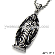 Hot sale new gifts custom antique silver zinc alloy virgin mary/buddha pendant
