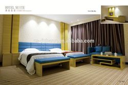Solid wood veneer hotel bedroom furniture