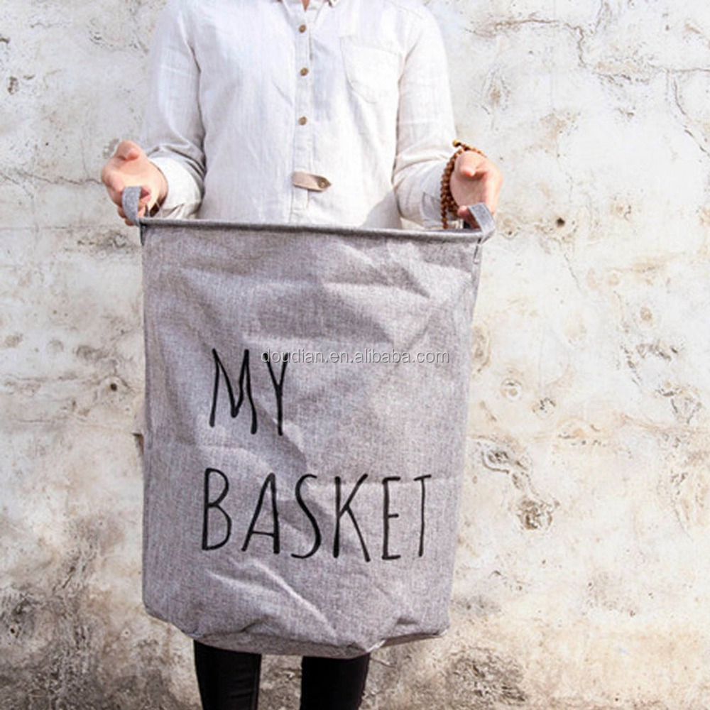 Folding cheap hanging mesh canvas laundry basket bag