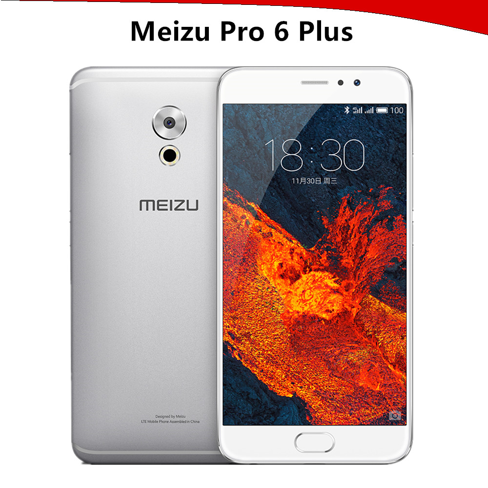 2017 Original Meizu Pro 6 Plus Pro6 Plus 5.7 inch 2K screen Octa Core Exynos 8890 4G RAM 12MP camera mTouch 3400mAh smartphone