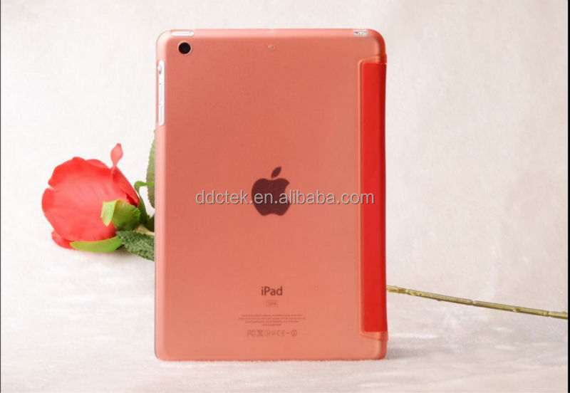 Popular Orange PC PU cover for ipad case for apple ipad air