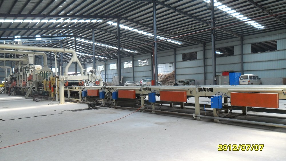 japan standard particleboard production line in construction