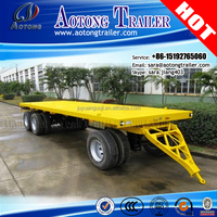 AOTONG low price drawbar trailer /Tow Dolly Flatbed Container Full Trailer (30ton)