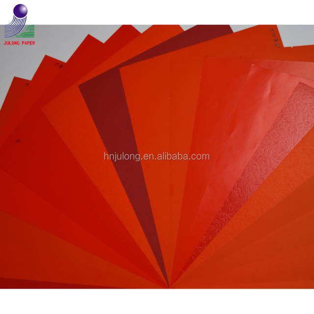 Virgin Wood Pulp Laminated Red Paperboard for Weeding Invitations and Boxes Packing
