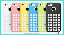 For iphone 5c Case, Ultra Thin DOT Hole Soft TPU Gel Case Cover