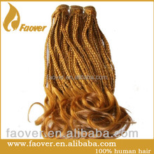 Virgin Micro Braids Blonde human hair weft