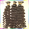 New Arrival African Women Style Bulk Curly Hair For Braiding Unwefted Indian RAW Hair 100% real Temple hair Wholesale