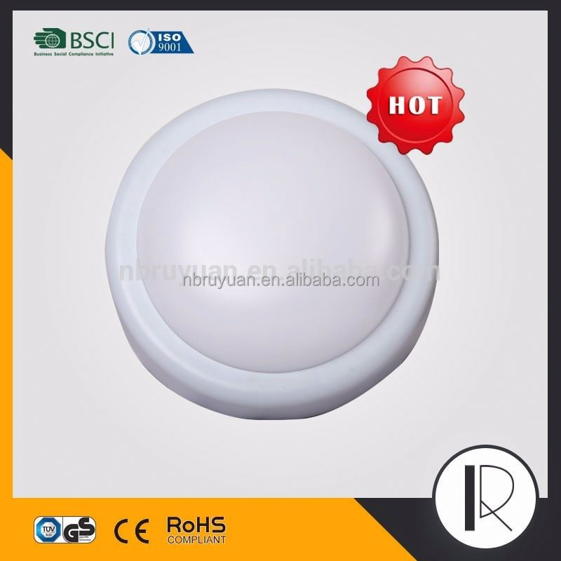 Popular super bright surface mount round led ceiling light fixture for steam room,round plastic fixture for home ceiling lamp