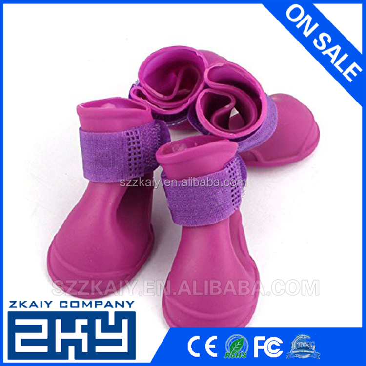 Dog candy Colors Waterproof Rain Rubber Pet silicone Shoes Booties
