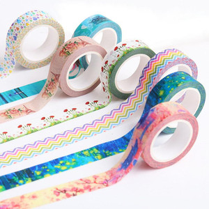 25mm 10m Custom Printed Colored Paper Stationery Washi Masking Tape