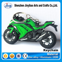 customized rubber soft pvc keychain rubber motorcycle keyrings
