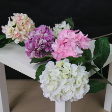 Factory direct sale artificial silk hydrangea flowers for wedding decoration