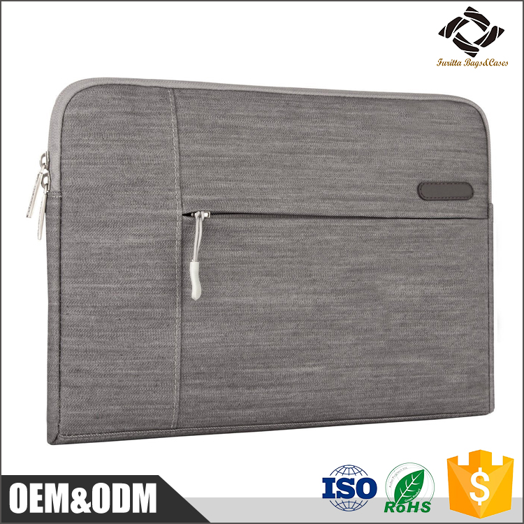 OEM factory price custom Nylon Scratch-resistant 11.6 / 13.3 / 15.4 inch laptop sleeve bag with Fuzzing Lining