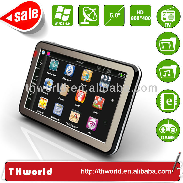 Wholesale promotion 5 inch touch screen mtk gps with 800MHz CPU 4GB memory