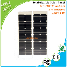 Highest Efficiency 40W 19.5V SunPower Semi Flexible Solar Panel for Boat